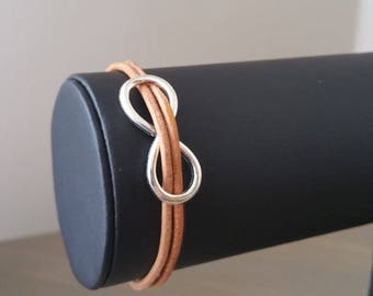 """Infinite"" leather strap"