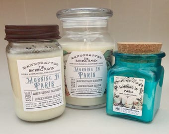 MORNING IN PARIS - 100% soy candles, 3 sizes available