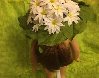 "Flowered 18""doll Sun Hat"
