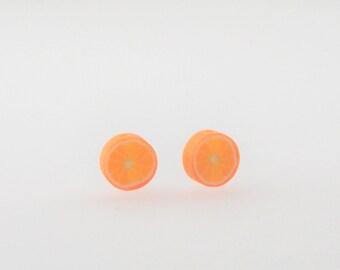 """Orange"" bead polymer clay"