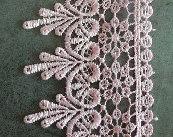 Pink lace cotton polyester