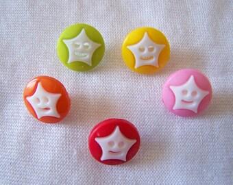Fancy button, kids, star pattern (Bo 2466)