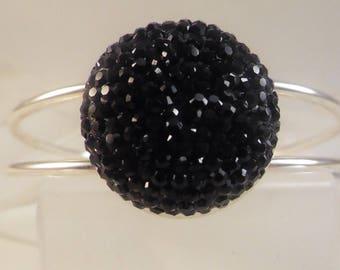 """""""Sparkling"""" black rhinestone bracelet"""