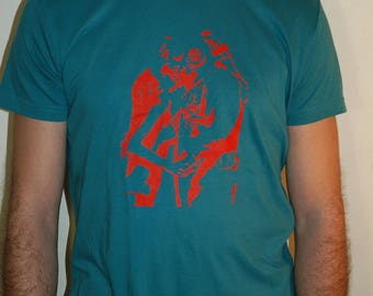"""T-shirt men 100% cotton screen printed """"the kiss of the diver"""""""