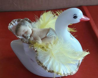 Nightlight multicolor Swan and her baby
