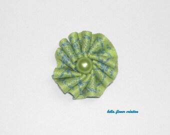Interleave for creation flower blue/green 2cm