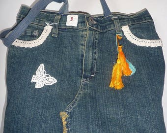 Recycled denim bag model R