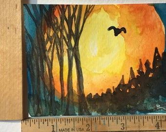 Moon Glow original painting OOAK