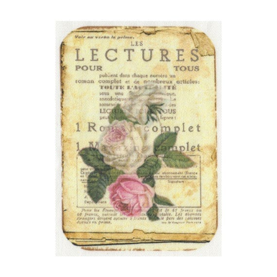"""Applied fusible - Collection """"Old Rose"""" AT406-7"""