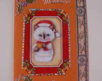 70 - Card best wishes kitten