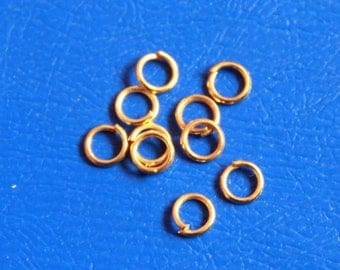 Open rings, Gold Filled 5 * 0.7 mm set of 10