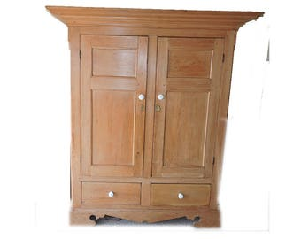 Vintage - Charming French Americana Armoire