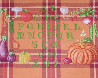 """""""A garden in the kitchen"""" primer embroidery cross stitch"""