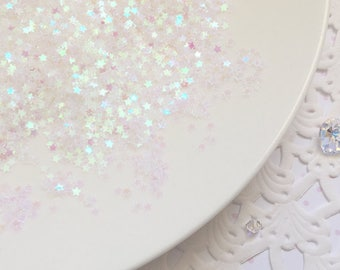 3mm Tiny Iridescent Star Glitter - 10g