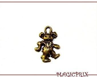 set of 4 charms/pendants bear/bear color BRONZE 20 X 15 mm 418