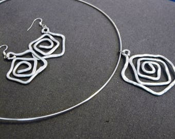 Parure Choker and earrings Rosae