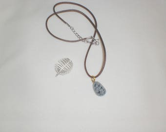 Snowflake Obsidian necklace, and its spiral pendant gift