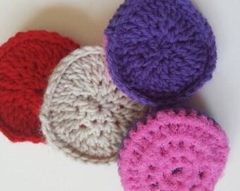 Handmade Crochet Double Sided Scrubber Scrubbie-pink net