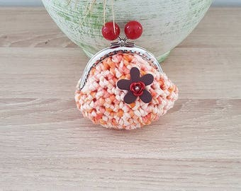coin purse crochet and flower