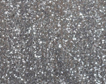 "52"" Wide Glitz Mesh Sequins - SILVER Sequin Glitz Fabric - Sold By The Yard - Mesh with Glitz Sequins Embroidery"