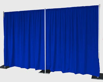 5feet x 8feet ROYAL BLUE Polyester Fabric Backdrop Background Drapes for Pipe and Drape