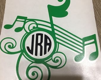 Music Notes Initial Decal