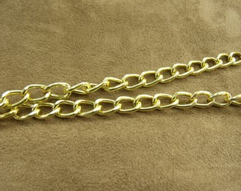 Chain metal-1, 2 cm / 8 mm - gold