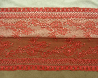 LACE of CALAIS - 21 cm - Red