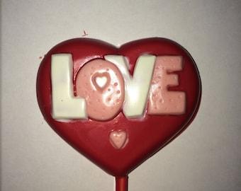 Love Chocolate Lollipops