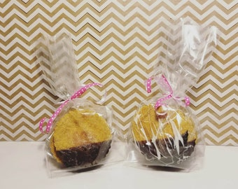 Carob Dipped Peanut Butter Biscuits (Bag of 5)