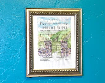 Hymn Art Sweet Is the Work LDS Watercolor Page Print