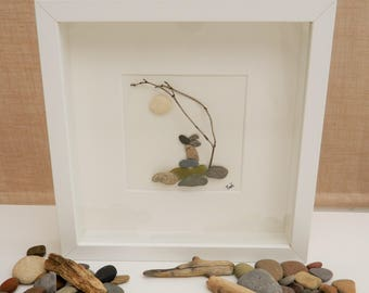 Pebble/Stone Art - 'Not a Hare in the World'