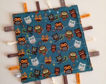 Sale - 50%. Taggy 'Owls' cotton