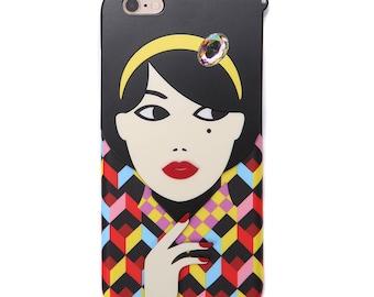 Stylish iPhone case 'Girl with Hairband'