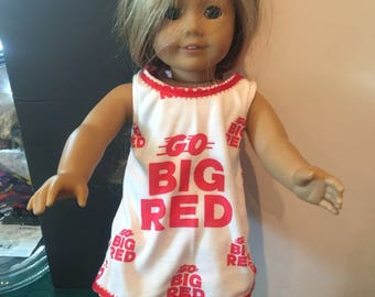 American girl doll Nebraska Cornhusker shorts set(18 inch)