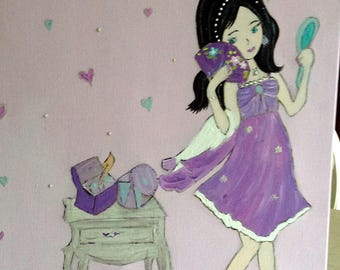 decorative painting little girl's room!