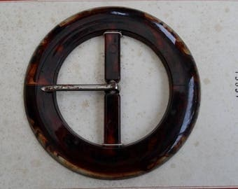 Belt buckle vintage bakelite in perfect condition piece numbered