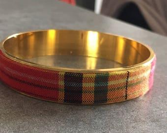 Bracelet red madras