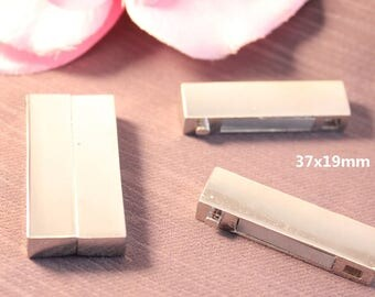 1 rectangular 37x19mm silver magnetic clasp - SC31830-