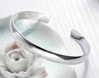 1 bracelet Bangle silver open 18.8 cm - creating jewelry - SC78298