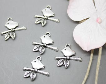 Charms Charms silver Bird on branch 17x16mm - SC0081022 - 20