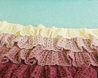 Ombre Ruffle Blanket