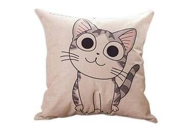 Cushion cat / kitten model n 2 42 x 42 cm