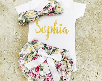 Baby Clothes, Baby Girl Clothes, Baby Girl Outfits, Personalized Baby Clothes, Baby Clothes Girl, Newborn Girl Outfit, Baby Clothes Girl
