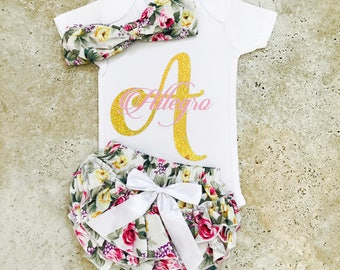 Personalized Baby Clothes, Baby Girl Clothes, Baby Girl Clothes With Names, Baby Girl Clothes Newborn Monogramed, Baby Clothes Girl, Newborn