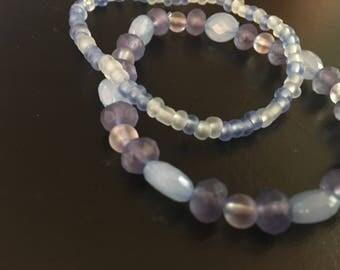 Elastic Beaded Bracelet Set-