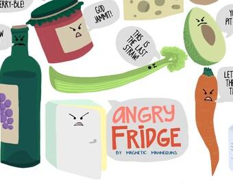 Angry Fridge Magnet Pack