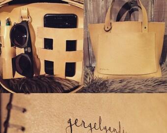 gergelyandi cow leather tote bag handbag