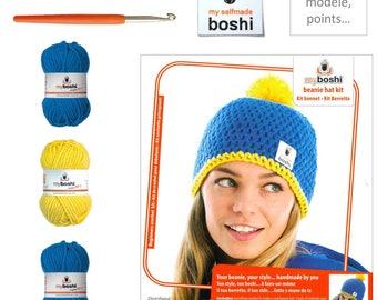 Kit my boshi, blue and Yellow Hat