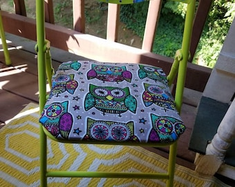 Owl, Child's Folding Chair, Hand Painted